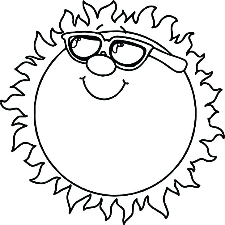 728x728 Sun Coloring Page