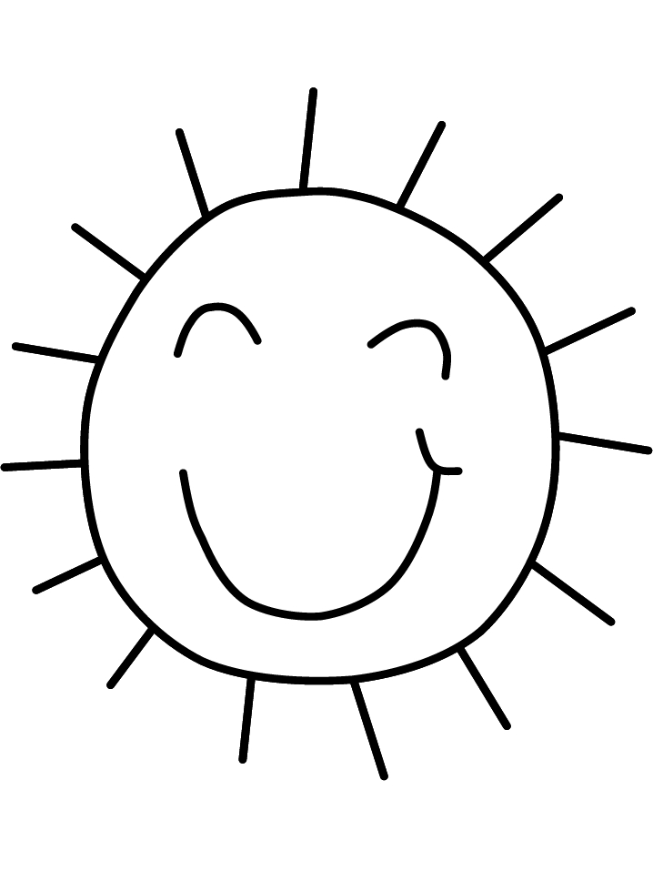 718x957 Cartoon Sun Coloring Pages