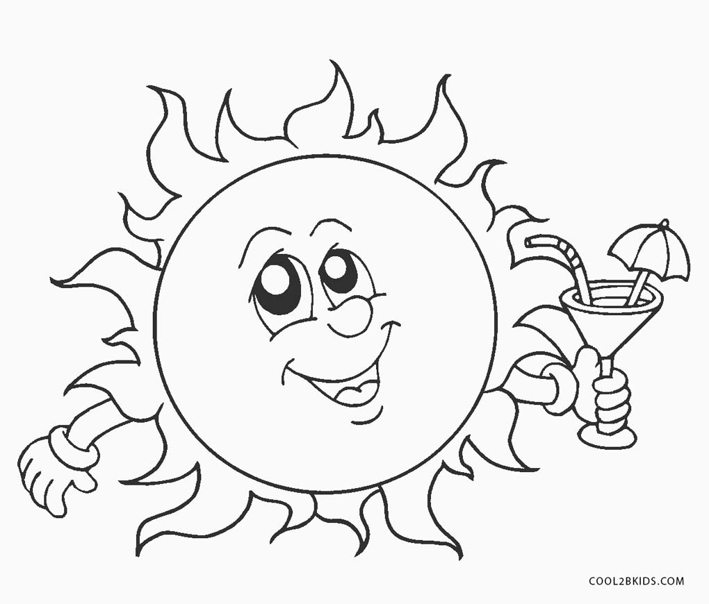 1020x870 Excellent Fun In The Sun Coloring Pages Free P