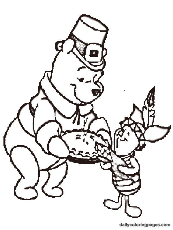Cartoon Thanksgiving Coloring Pages