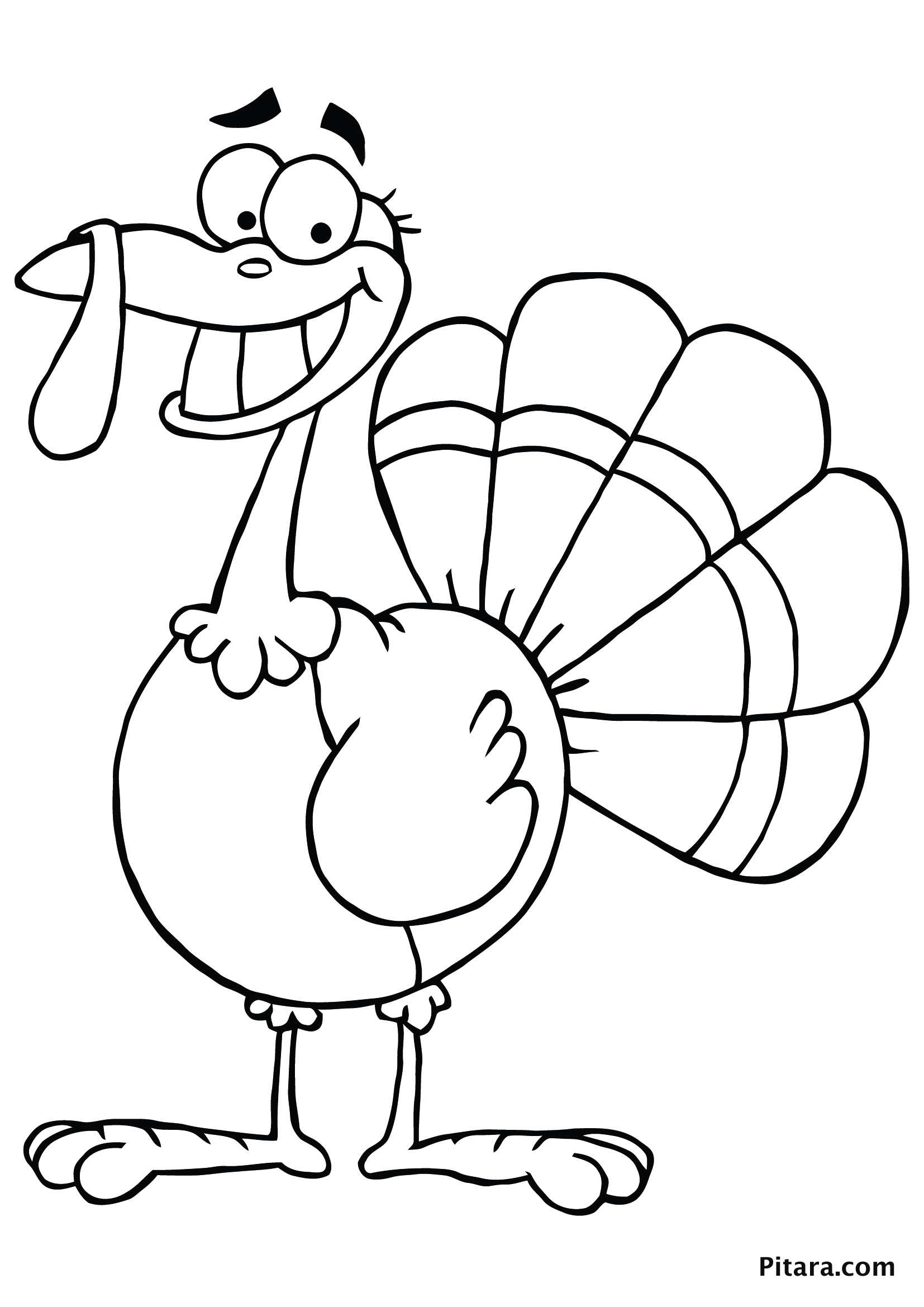 Cartoon Thanksgiving Coloring Pages At Getdrawings Com Free For