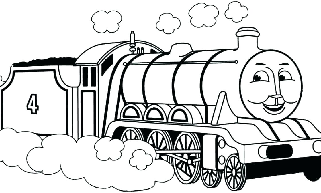 Cartoon Train Coloring Pages At Getdrawings Com Free For