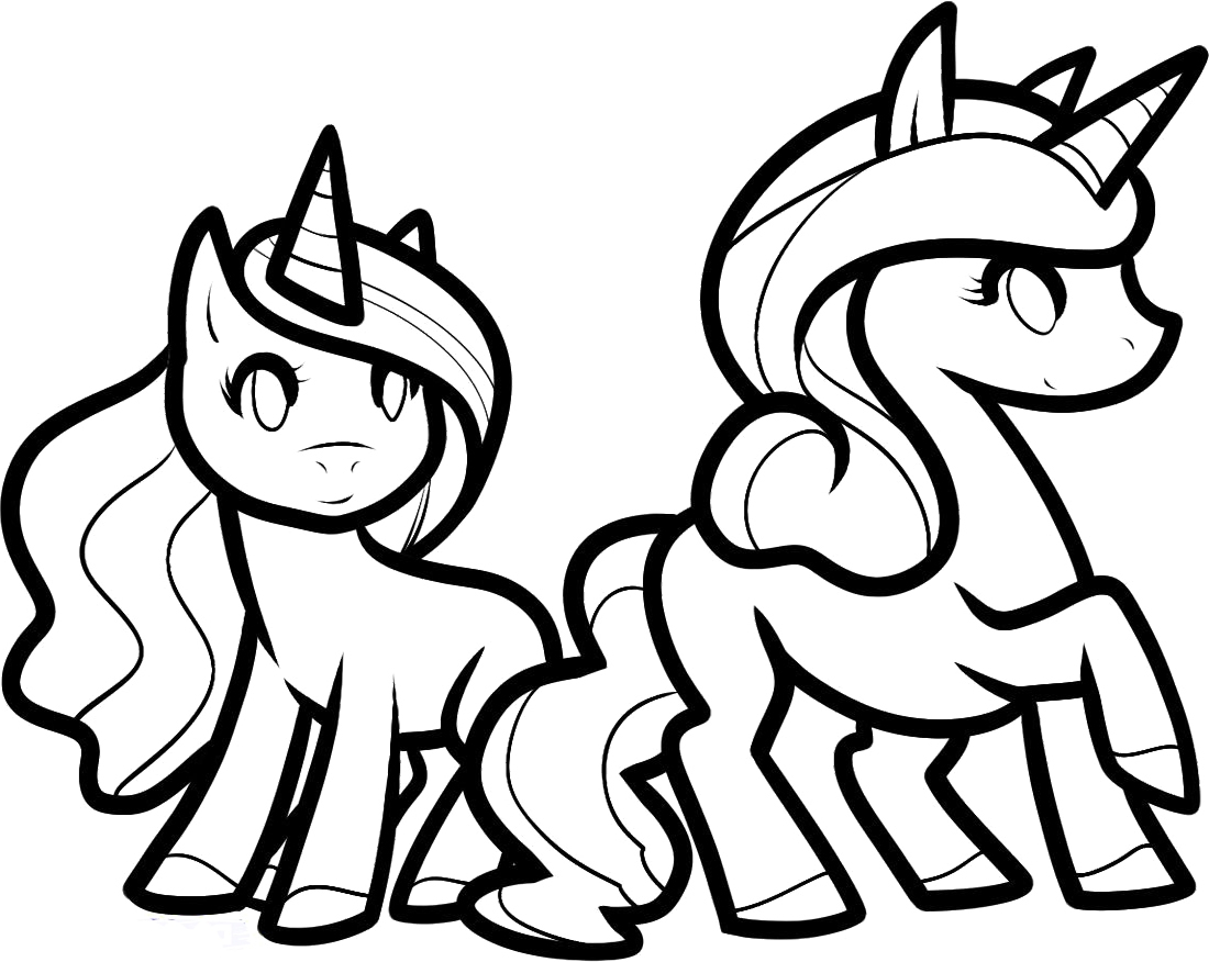 1100x876 Cute Cartoon Unicorn Coloring Pages To Print Coloring For Kids