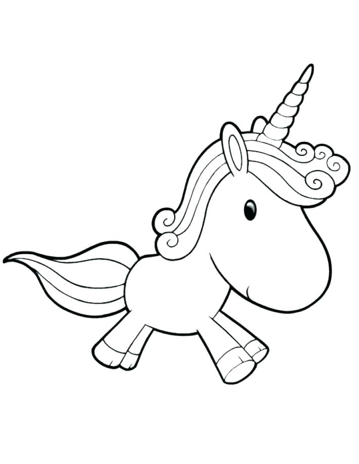 711x920 Cute Unicorn Coloring Pages