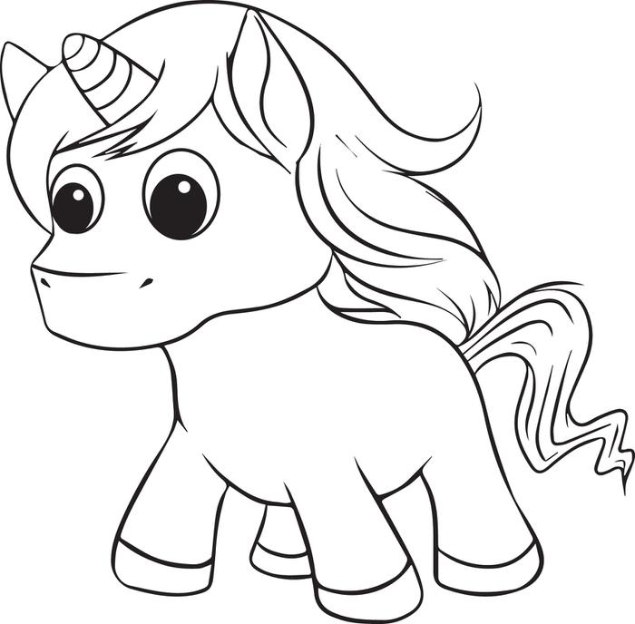 700x688 Cute Unicorn Coloring Pages