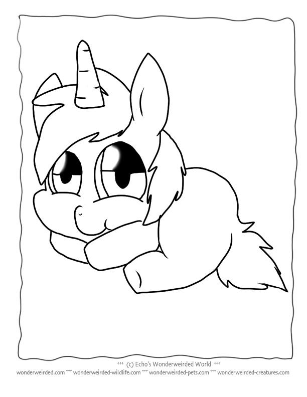 612x792 Unicorn Cartoon Coloring Pages Free To Print