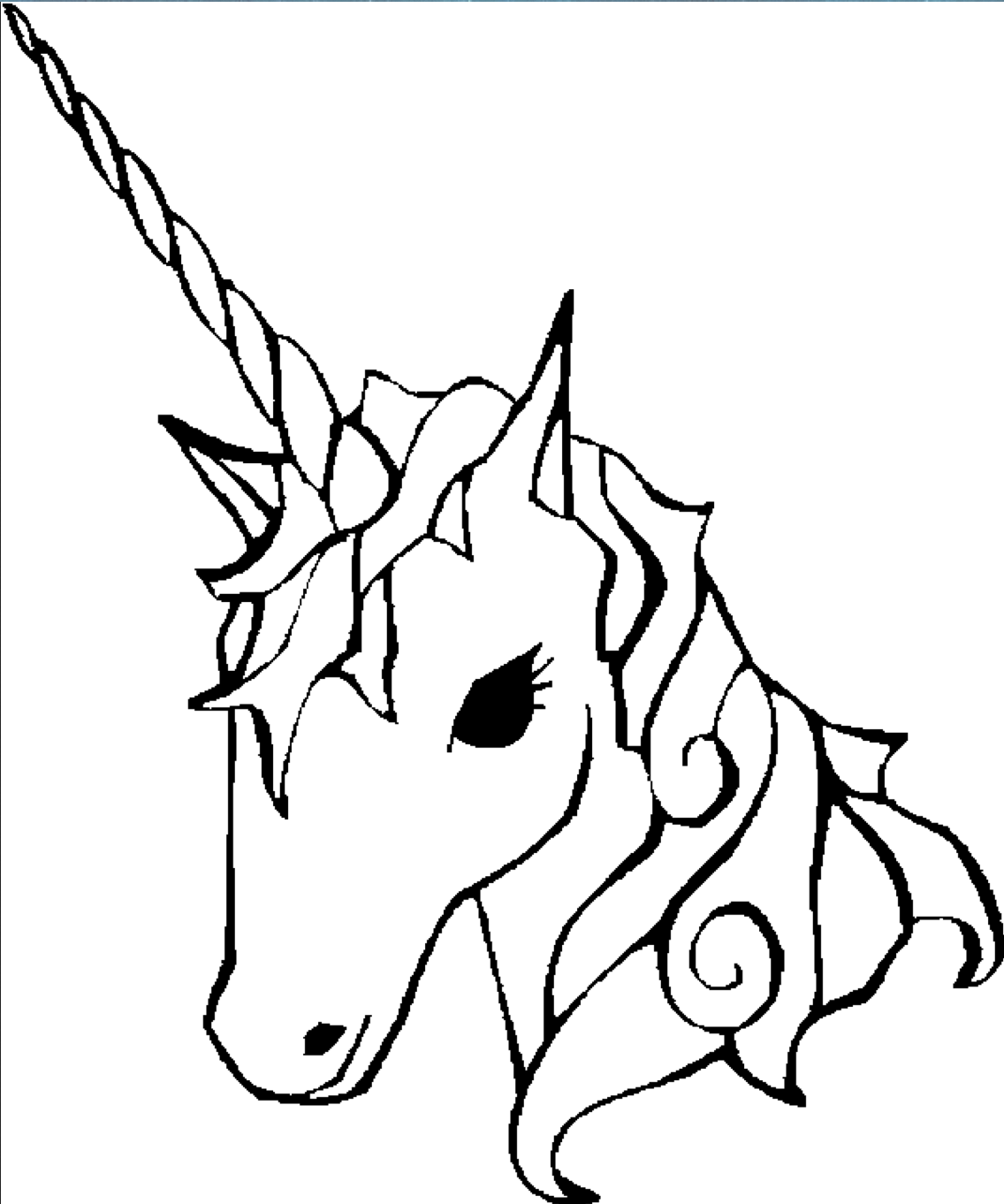 1136x1362 Unicorn Coloring Page Coloring Book