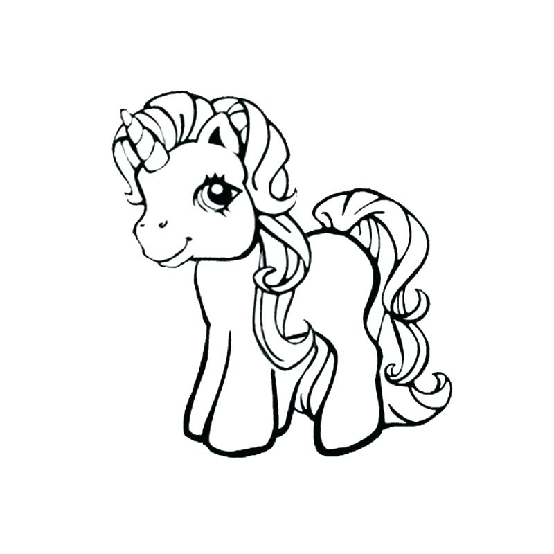 800x800 Cute Unicorn Coloring Pages