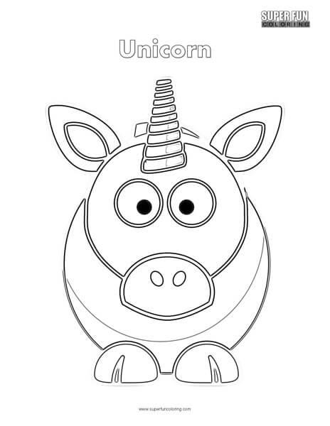 464x600 Cartoon Unicorn Coloring Page