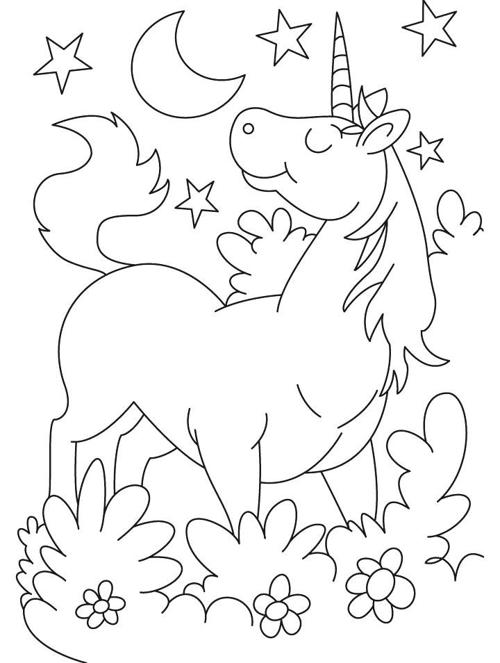 720x954 Cartoon Unicorn Coloring Pages Download Free Cartoon Unicorn