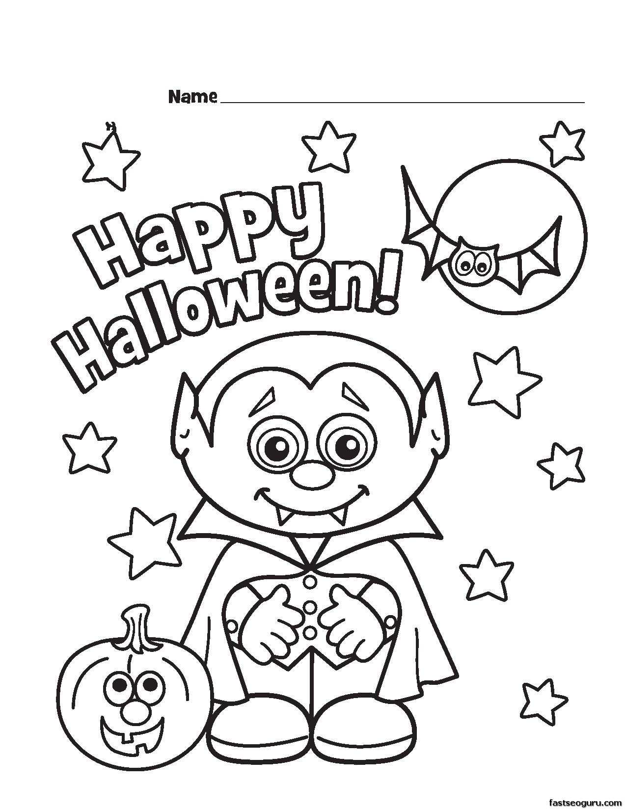 1275x1650 Printable Halloween Coloring Pages