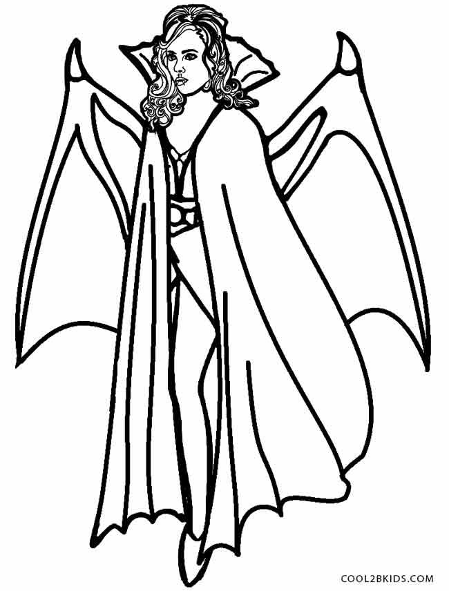 650x856 Printable Vampire Coloring Pages For Kids Holiday