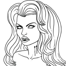 230x230 Top Free Printable Vampire Coloring Pages Online