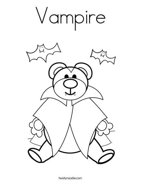 468x605 Vampire Coloring Page