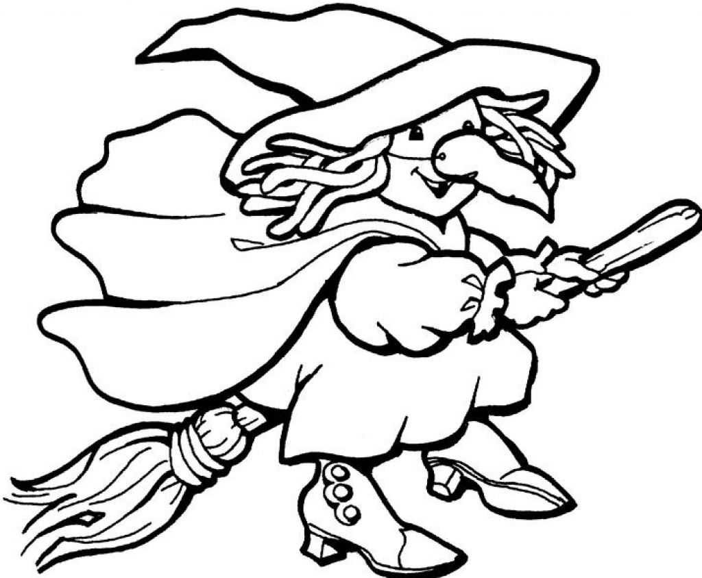 Cartoon Witch Coloring Pages