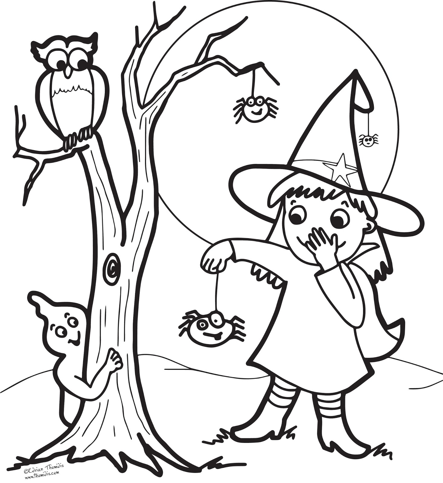 Cartoon Witch Coloring Pages At Getdrawings Com Free For Personal