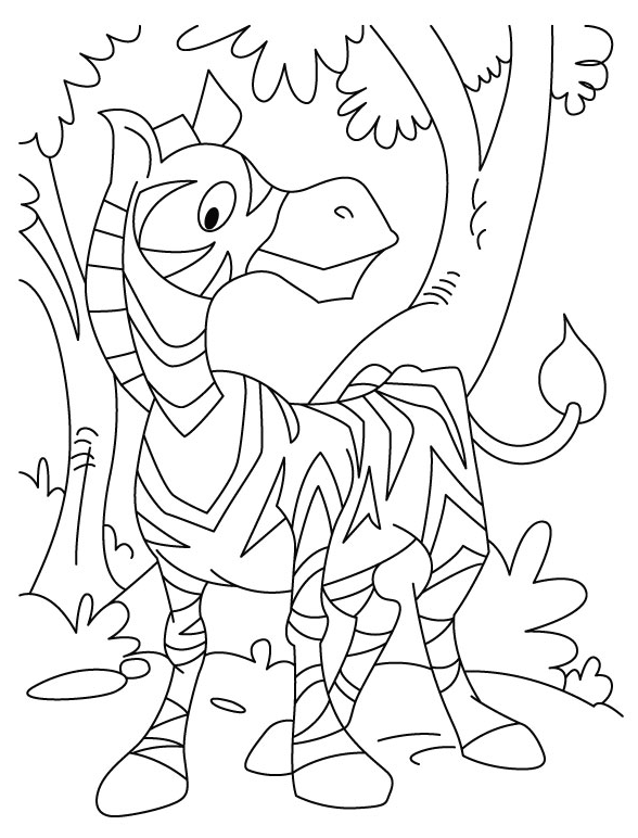 588x772 Cartoon Zebra Coloring Page Coloring Book