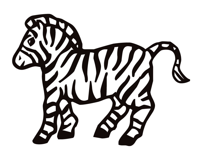 810x630 Cartoon Zebra Coloring Pages