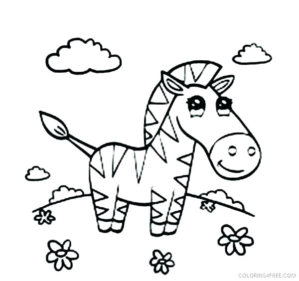 600x564 Baby Zebra Coloring Pages Cartoon Zebra Coloring Pages Baby Zebra