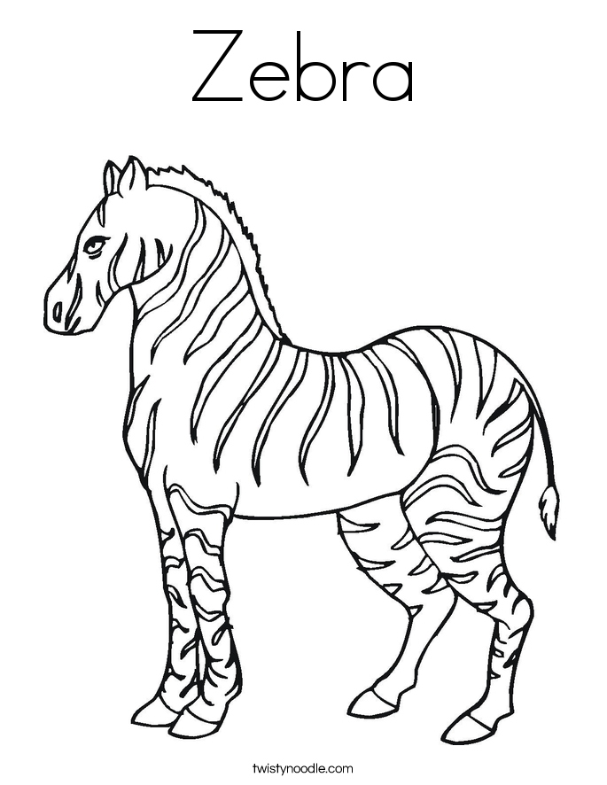 685x886 Zebra Coloring Pages Elegant Cartoon Zebra Coloring Pages Cartoon