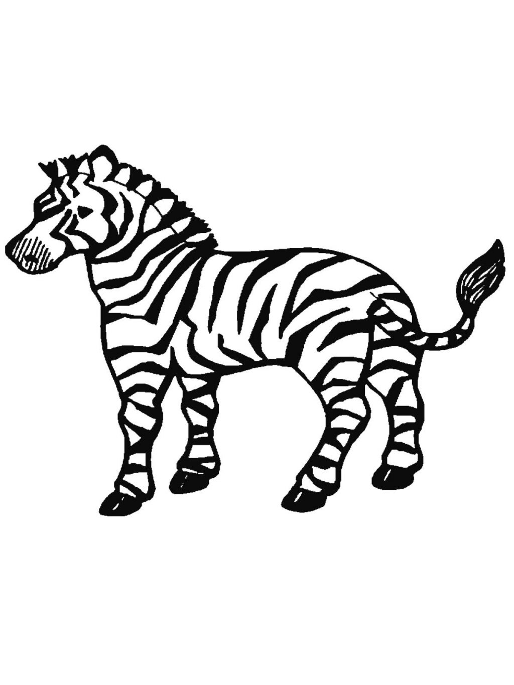 Cartoon Zebra Coloring Pages At GetDrawings
