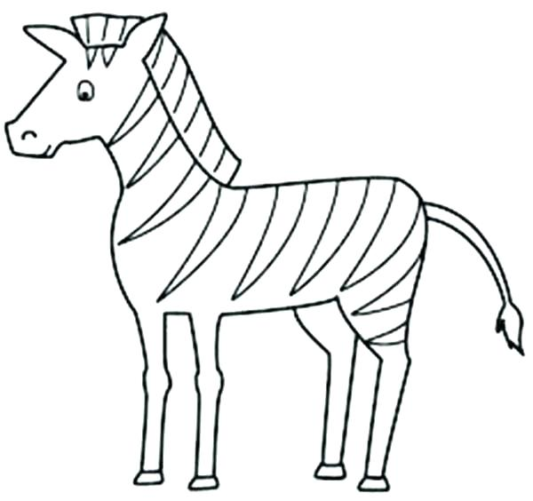 600x564 Coloring Zebras Coloring Pages Cartoon Zebra Printable For Online