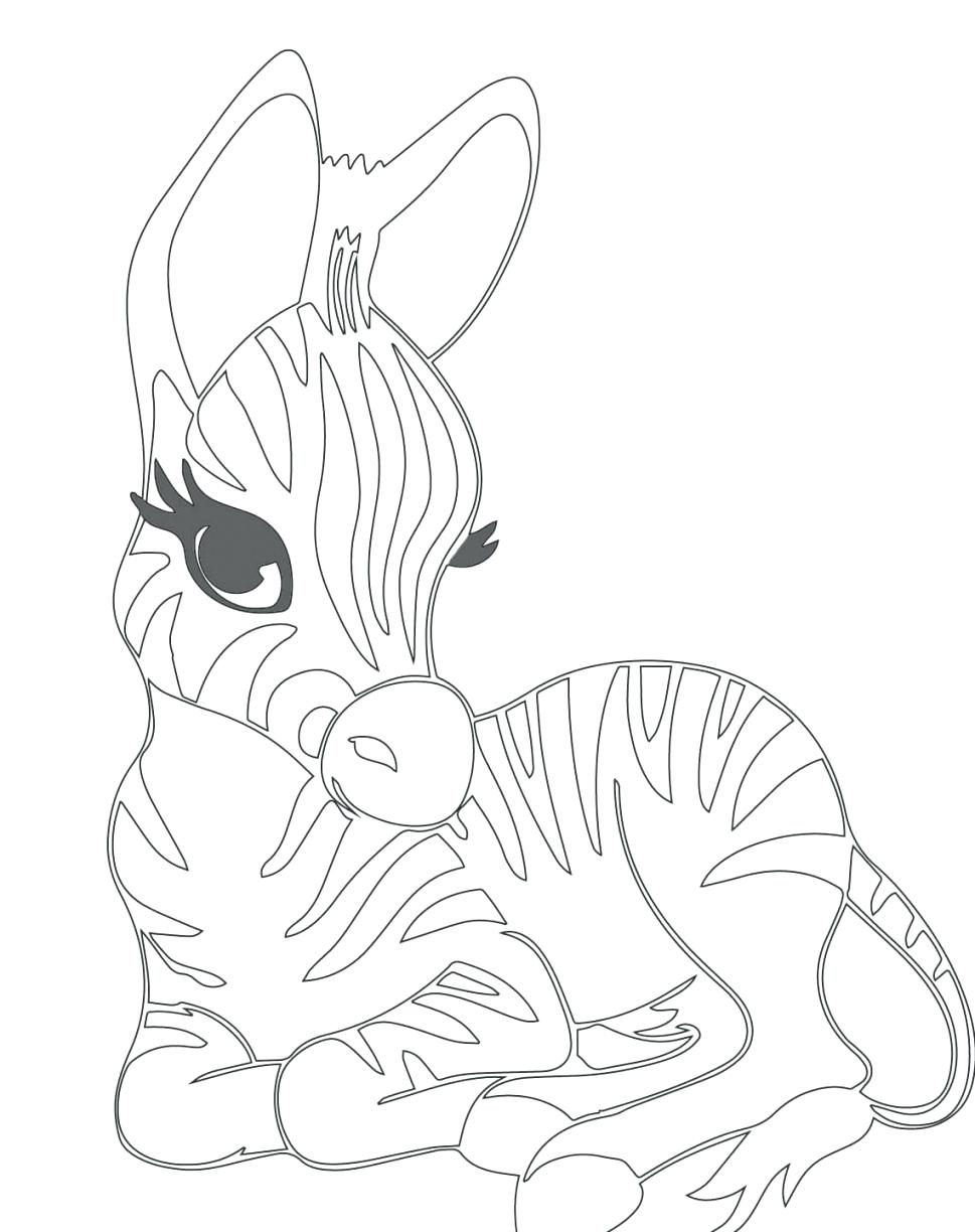 969x1224 Coloring Pages Zebra Coloring Page Cartoon Cute Vector