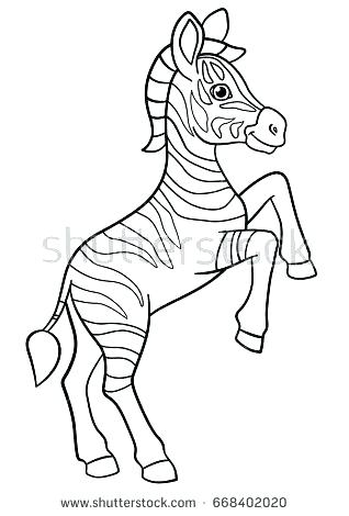 318x470 Baby Zebra Coloring Pages Marvellous Baby Zebra Coloring Pages