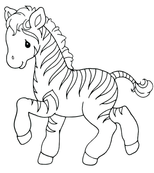 600x672 Baby Zebra Coloring Pages Wall Decals Cartoon Cute Baby Zebra Inch