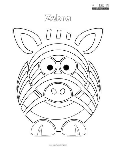 464x600 Cartoon Zebra Coloring Page