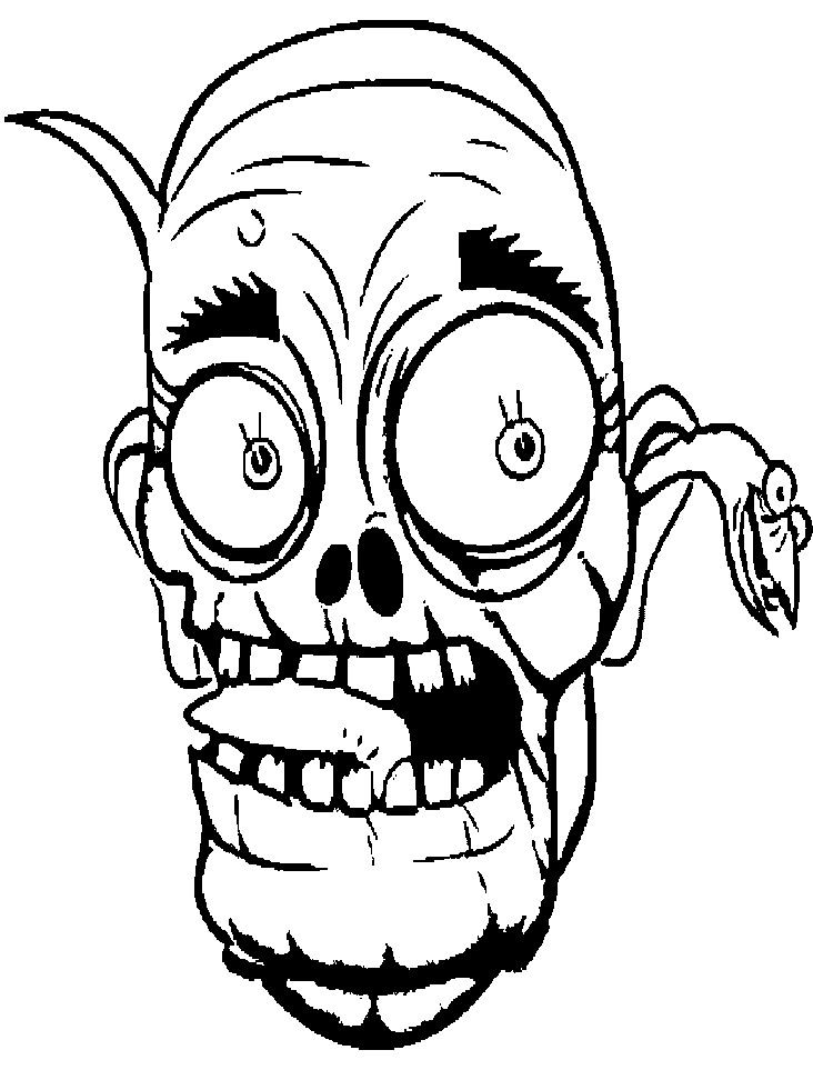 732x972 Face Cartoon Zombie Coloring Page Coloring