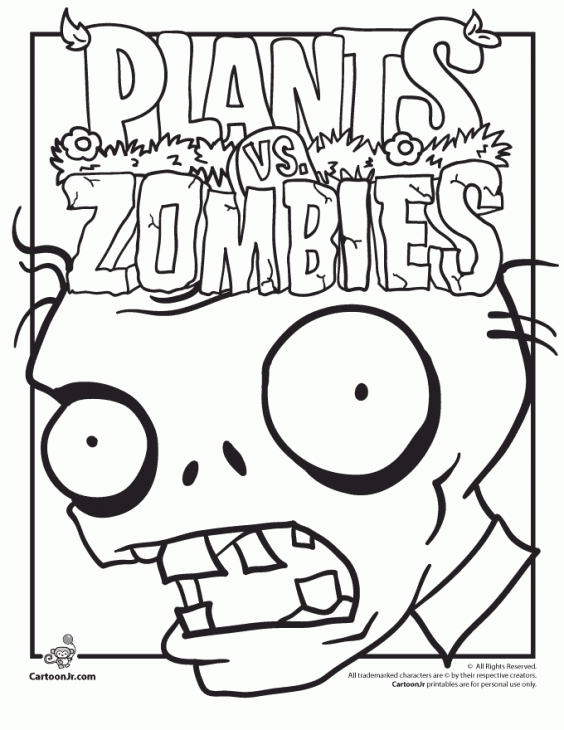 564x730 Free Printable Plants Vs Zombies Coloring Page Fun Coloring