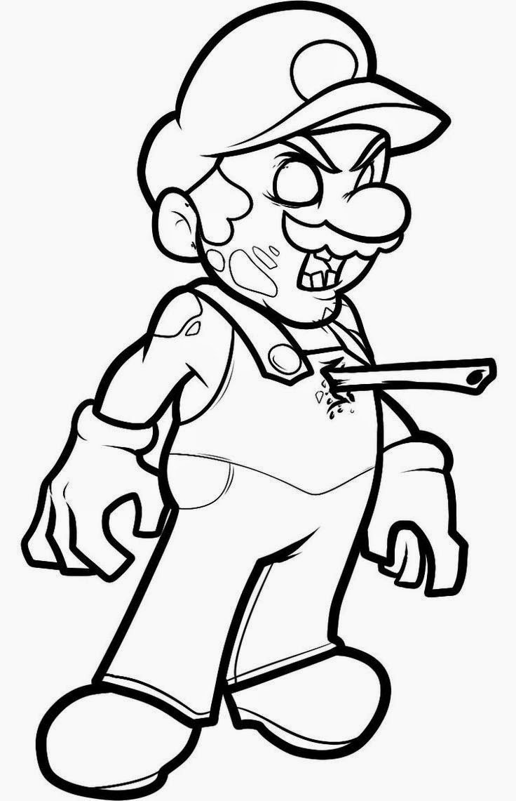 736x1141 Halloween Zombie Coloring Pages