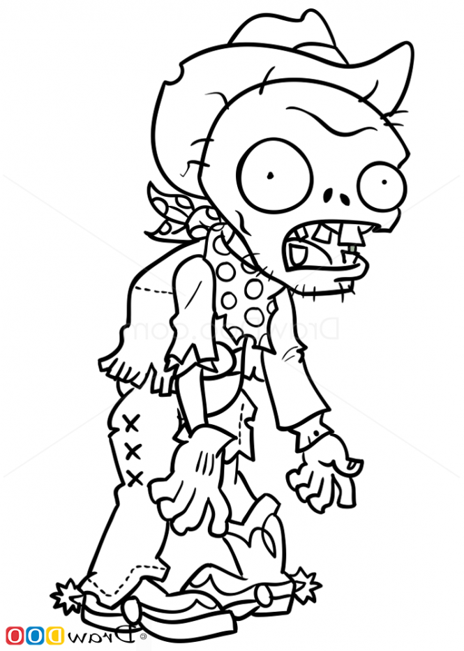 665x933 Plants Vs Zombies Zombie Coloring Pages