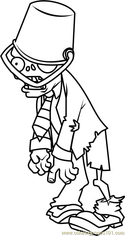426x800 Buckethead Zombie Coloring Page
