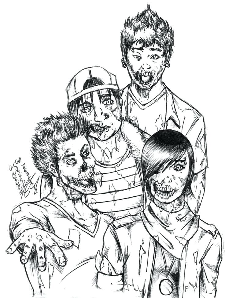 736x974 Zombie Coloring Pages Just Zombie Coloring Pages Cartoon Zombie