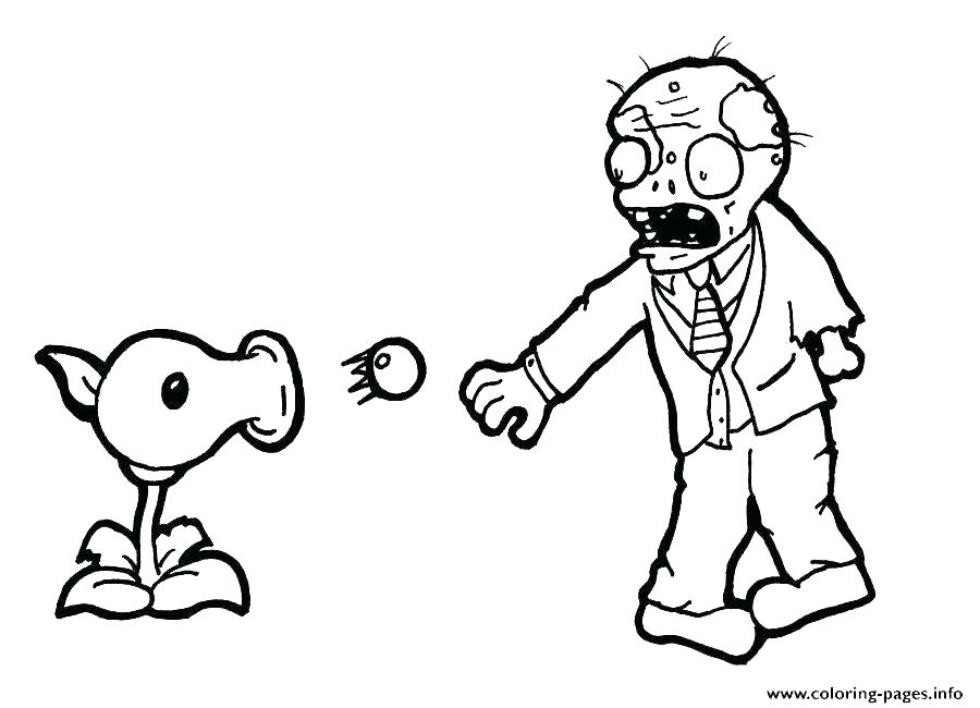 900x650 Scary Zombie Coloring Pages