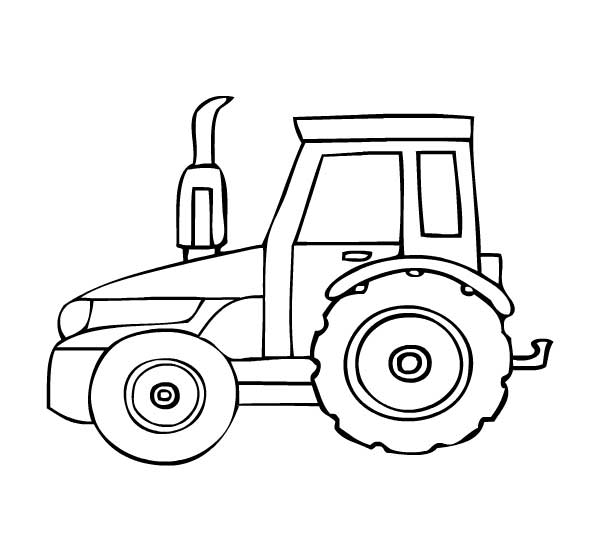 600x560 Best Tractor Coloring Pages To Print