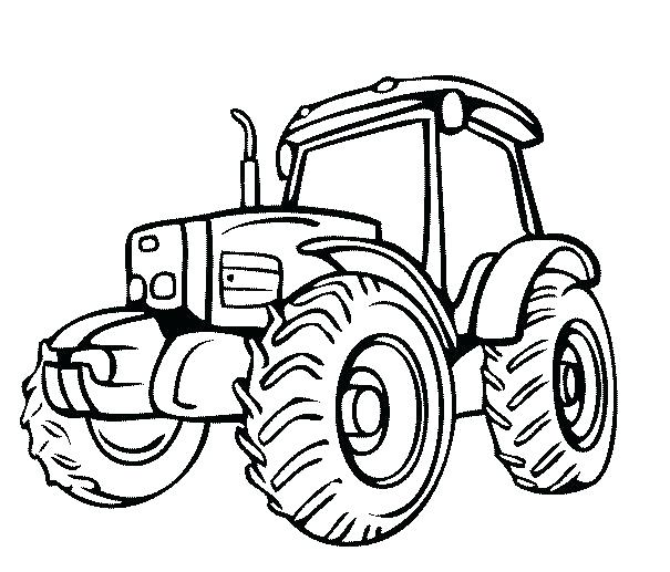 605x517 Combine Coloring Pages John Tractor Coloring Pages John Coloring