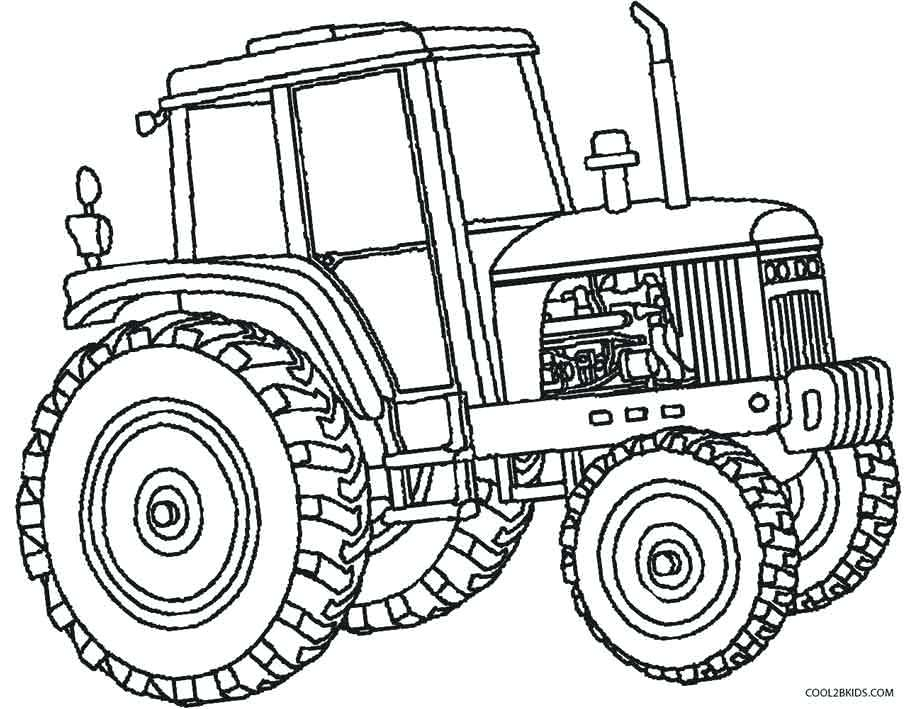 Top 25 Free Printable Tractor Coloring Pages Online | 709x910