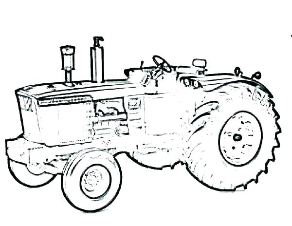 600x464 Free Tractor Coloring Pages Farming Tractor Coloring Page Tractor