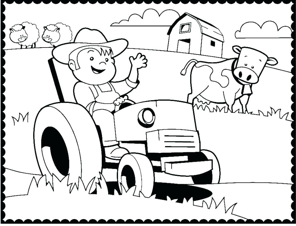 940x718 Free Tractor Coloring Pages Tractor Plows Coloring Page Free Free