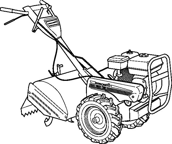 600x504 Haymaker Tractor Coloring Page