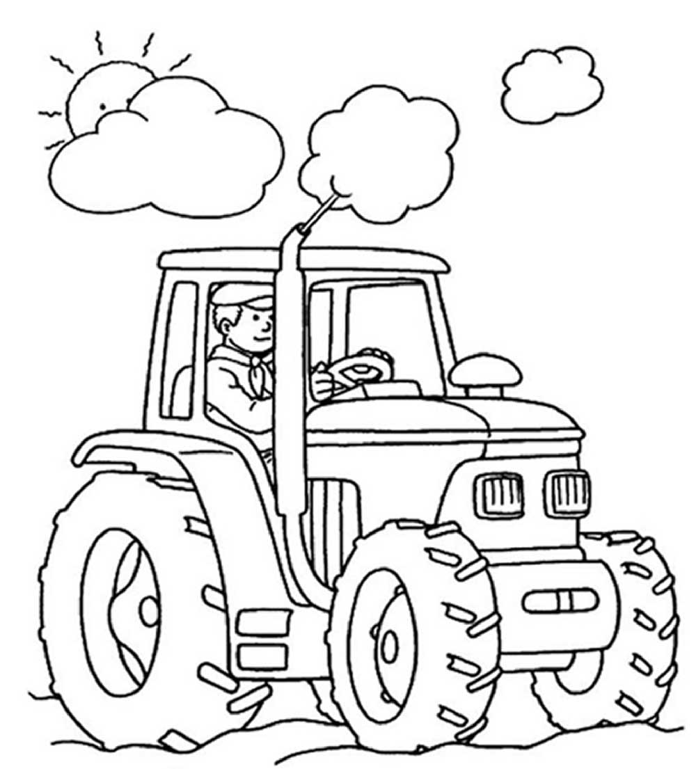 1000x1105 Best Tractor Coloring Pages To Print