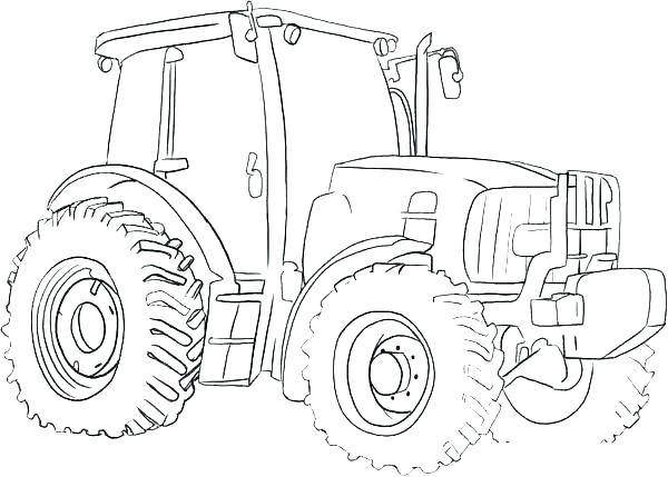 600x429 John Tractor Coloring Pages Many Interesting John Tractor Coloring