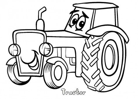 474x338 Top Tractor Coloring Pages