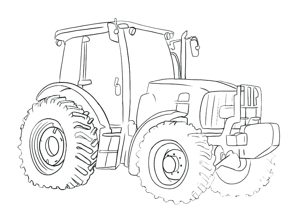 957x718 Tractor Coloring Pages For Toddlers John Best To Print Best