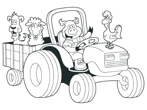 510x383 Tractor Coloring Pages John Tractor Coloring Pages Free Page Color