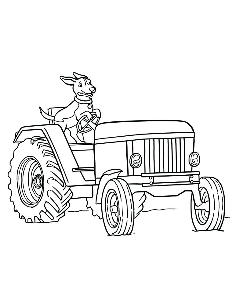 773x1000 Tractor Coloring Pages
