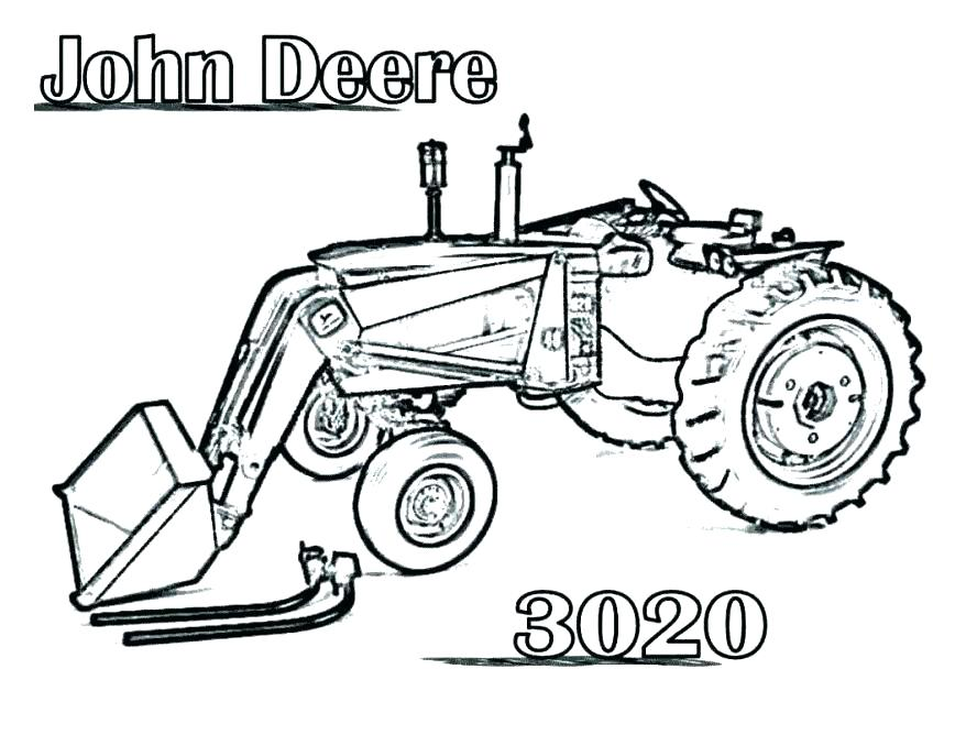 878x678 Coloring Pages Of Tractors Tractor Printable Coloring Pages John